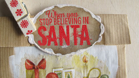 When you stop believing bag DT Vilda Stamps detail