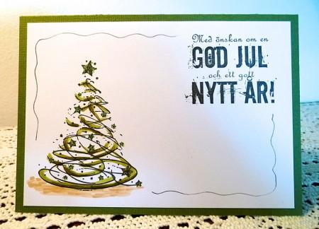 vilda julkort gran