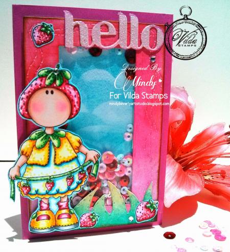 vilda strawberry shaker card